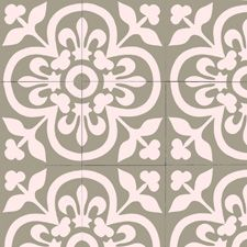 Moroccan Cement tiles are durable, easy to clean and naturally insulating. Cement tiles gives that beautiful ethnic edge on your home Vinyl Floor Mat, Vinyl Flooring, Mosaic Del Sur, Stencils, Pattern Code, Tiles Online, Tile Projects, Bathroom Renos, Floor Design