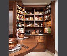 ya -- this is the double doors, opened. very nice.  Harrington Walnut Kitchen - Bespoke Kitchens - Tom Howley