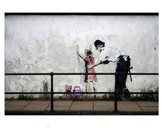 Ready to Hang Banksy Graffiti Canvas Street Art Prints by Banksy Graffiti, Street Art Banksy, Arte Banksy, Street Mural, Bansky, Anti Graffiti, Banksy Canvas Prints, Canvas Wall Art, Art Prints