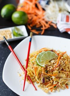Spaghetti Squash Pad Thai // Very good, and great way to sub veggies for rice noodles.