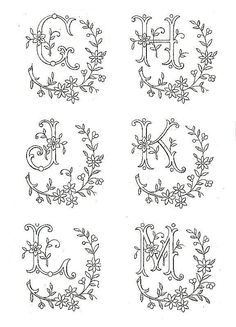 Alphabet - Broderie d'Antan Plus Embroidery Alphabet, Embroidery Monogram, Cross Stitch Alphabet, Embroidery Patterns Free, Hand Embroidery Stitches, Silk Ribbon Embroidery, Hand Embroidery Designs, Embroidery Art, Machine Embroidery