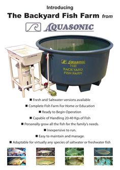 Aquaponics is the combination of plant cultivation and fish or other aquatic animal rearing within a defined system. Get a good overview of aquaponics here. Backyard Aquaponics, Aquaponics Fish, Fish Farming, Backyard Farming, Aquaponics System, Hydroponic Gardening, Shrimp Farming, Homemade Hydroponics, Hydroponic Systems