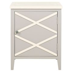 A stylish addition to your living room or home office, this charming cabinet showcases a latticework pattern and gray finish.     Produc...