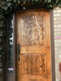 hand-carved door, charming.