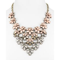 Baublebar Athena Bib Necklace, 15 ($61) ❤ liked on Polyvore featuring jewelry, necklaces, pink, bib necklace, pink bib necklace, pink jewelry, baublebar jewelry and pink necklace