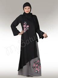 Rasha 2 tone Abaya