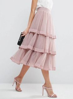 55 Bottom Outfits To Not Miss – Outfit Trends 55 Bottom Outfits To Not Miss – Skirt Outfits, Dress Skirt, Dress Up, Ruffle Skirt, Dress Long, Look Fashion, Trendy Fashion, Korean Fashion, Trendy Style