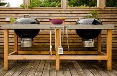 His outdoor kitchen. #PinMyDreamBackyard