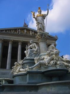 Statues and Greek architecture