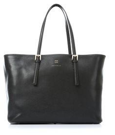 Work Handtasche Leder schwarz 38 cm