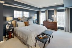 New Homes in Manassas VA, Signal Hill Station Signal Hill, Master Bedroom, Bedroom Decor, Casement Windows, Hill Station, Window Hanging, Drum Shade, Model Homes, Home Buying