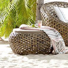 Montauk Outdoor Nest Chair   Antique Palm
