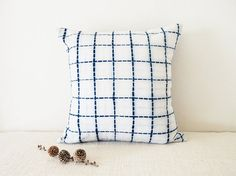 Shibori indigo pillow 16x16 by slowstitchstudio on Etsy