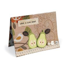 What a Cute Pear Card   uses Owl & Pear on sale at Blitsy today!