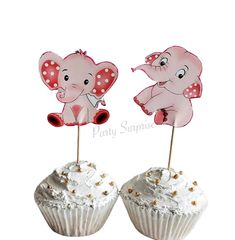 Pink Elephant Cupcake Toppers Baby Girl Baby Shower Elephants Custom Hand Made Birthday Girl Elephant Cupcake Toppers Safari Party by PartySurprise on Etsy Elephant Cupcakes, Elephant Party, Elephant Baby Showers, Pink Elephant, Safari Party Decorations, Gender Reveal Decorations, Balloon Dog, Cat Party, 1st Birthday Girls