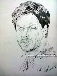Shahrukh Khan sketch from the movie chak de India
