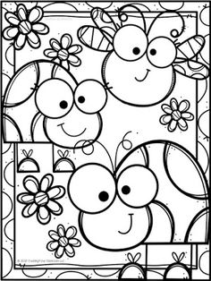 Bug Coloring Pages, Preschool Coloring Pages, Coloring Book Art, Animal Coloring Pages, Coloring Pages For Kids, Coloring Sheets, Coloring Pictures For Kids, Drawing For Kids, Art For Kids