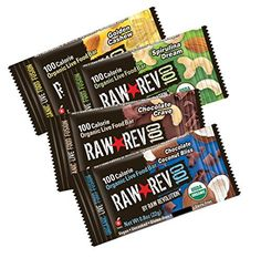 Raw Rev 100, 4-Flavor Variety Pack, 100 Calorie Organic Live Food Bar, 0.8-Ounce Bars (Pack of 24) - http://essential-organic.com/raw-rev-100-4-flavor-variety-pack-100-calorie-organic-live-food-bar-0-8-ounce-bars-pack-of-24/