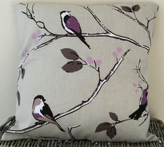 Purple Bird Print Handmade Cushion 16 x 16 / by LittlePeaHandmade Handmade Home Decor, Handmade Shop, Etsy Handmade, Handmade Crafts, Handmade Items, White Room Decor, Purple Bird, Handmade Cushions, Etsy Crafts