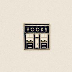 Bookstore enamel pin