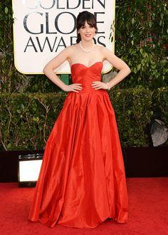 Golden Globes las mejor y las peor vestidas: Zooey Deschanel