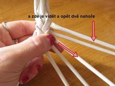 Moje pletení z papíru - Fotoalbum - NÁVOD - NA NETRADIČNÍ PLETENÍ - NÁVOD - NA OKRASNÉ UCHO