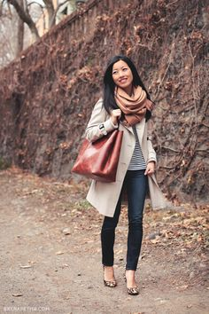 Like combo of shoes with striped shirt and leopard shoes, fit of jeans