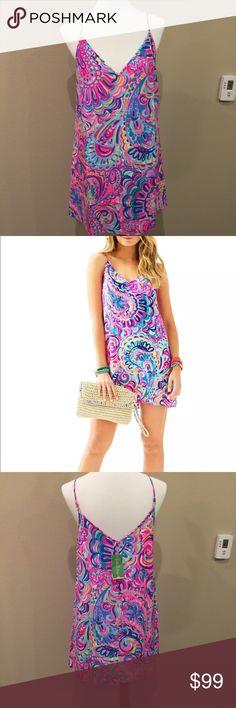 Lilly Pulitzer 100% silk dress Lilly Pulitzer psychedelic sunshine 100% silk dress. Sz M Lilly Pulitzer Dresses Mini