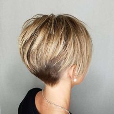 Caramel Blonde Layered Pixie