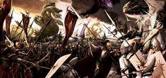 Armies clash