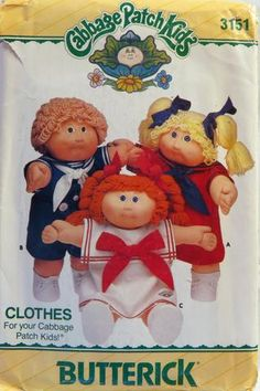 Butterick 3151 Cabbage Patch Kids Clothes -  - Smiths Depot Sewing Pattern Superstore