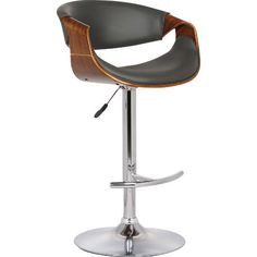 Found it at AllModern - Alvin Adjustable Height Swivel Bar Stool with Cushion