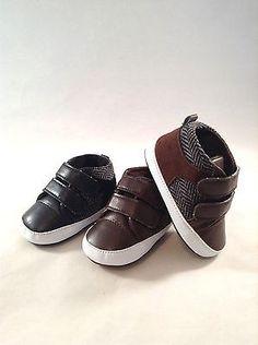 e38ac01f2c602 Boys Infant Dress Crib Shoes- Baby Sneaker Tennis Shoes size 1-4 Black