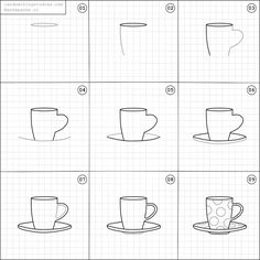 Learn to draw a cup of coffee in 6 steps learn to draw for Something hard to draw