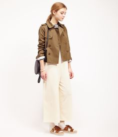ROPÉ PICNIC(ロペピクニック)|WEB限定42サイズあり!ギャバショートトレンチコート Short trench coat|KHAKI #J'aDoRe JUN ONLINE #J'aDoRe Magazine