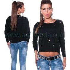 #Exclusivo #jersey @mujer de #estilo #joven y #sofisticado #diseño #holgado de #punto #suave con #anillos para #complementar tu #look #diario con #efecto $desenfadado que #marca #tendencia #casual y #pegara con todo tu #armario. Encuentralo en #jerseys y #camisetas de http://www.agiltienda.com/es/home/2284-camiseta-holgada-juvenil-8400228491444.html #online #shop @agiltienda.es