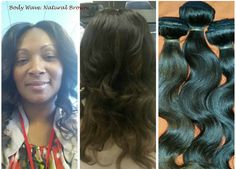 A happy client with body wave. Her virgin hair bundles came with lighter hues. A very soft look.