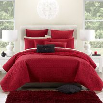 House of Hampton Halsted Reversible Comforter Set Size: Queen Bedroom Red, Bedroom Decor, Linen Bedroom, Adult Bedroom Design, Bedroom Designs, Simply Home, Red Rooms, Bed Spreads, Duvet Cover Sets