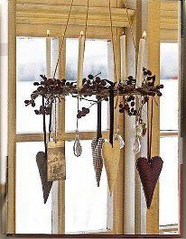Love this hanging candle love wreath.