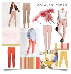 """""""Spring Denim"""" by kokooo7 ❤ liked on Polyvore featuring Citizens of Humanity, Acne Studios, 7 For All Mankind, Missguided, Miss Selfridge, J Brand, denim, springfashion and coloredjeans"""