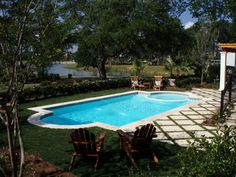 San Juan Fiberglass Pool - Roman Style Pool and Spa Combination. Pool-Spa combinations are more economical because each utilizes the same equipment to operate