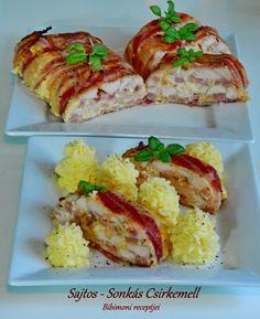 Sajtos - Sonkás Csirkemell Hungarian Recipes, Hungarian Food, Baked Potato, Potatoes, Baking, Ethnic Recipes, Kitchen, Cooking, Hungarian Cuisine
