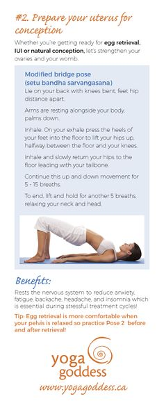 A mind-body program that integrates yoga, meditation, visualization, breathwork and cognitive restructuring has been clinically proven to improve pregnancy success rates from 20% with no intervention to 55% with a mind-body program. With my clients I see a pregnancy success rate of over 55%! And here's why: Anxiety impacts egg production and quality Women with depressive symptoms are half as likely to conceive versus women who are not depressed.  #Fertility #Yoga #TheYogaGoddess