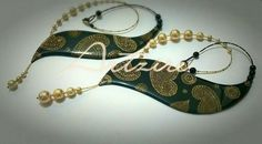 Off centred paper base jewellery with shell pearls and cast in clear resin