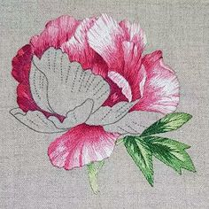 Wonderful Ribbon Embroidery Flowers by Hand Ideas. Enchanting Ribbon Embroidery Flowers by Hand Ideas. Embroidery Designs, Japanese Embroidery, Embroidery Needles, Silk Ribbon Embroidery, Crewel Embroidery, Vintage Embroidery, Embroidery Tattoo, Embroidery Supplies, Flower Embroidery