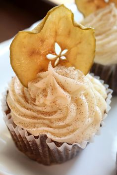 Apple Walnut Cupcakes with cinnamon cream cheese frosting