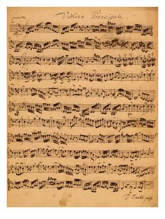 The Brandenburger Concertos, No.5 D-Dur, 1721 Giclee Print by Johann Sebastian Bach at AllPosters.com