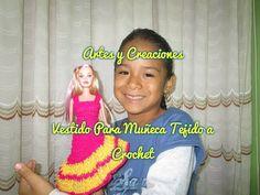 VESTIDO DE MUÑECA TEJIDO A CROCHET - YouTube