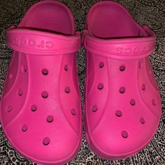 67e9d204626b Shop Women s CROCS Pink size 7 Mules   Clogs at a discounted price at  Poshmark.