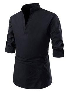 TheLees Mens Regular Transform Roll-Up Sleeve Mandarin Collar Shirts Casual Shirts For Men, Men Casual, Mandarin Collar Shirt, Flight Bomber Jacket, Camisa Polo, Cut Shirts, Button Shirts, Dress Shirts, Roll Up Sleeves
